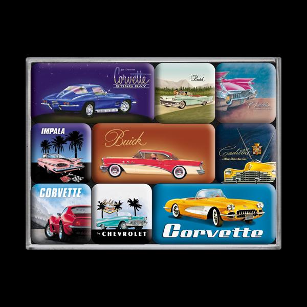 Magnet-Set US Classic Cars 9-teilig - Preisvergleich
