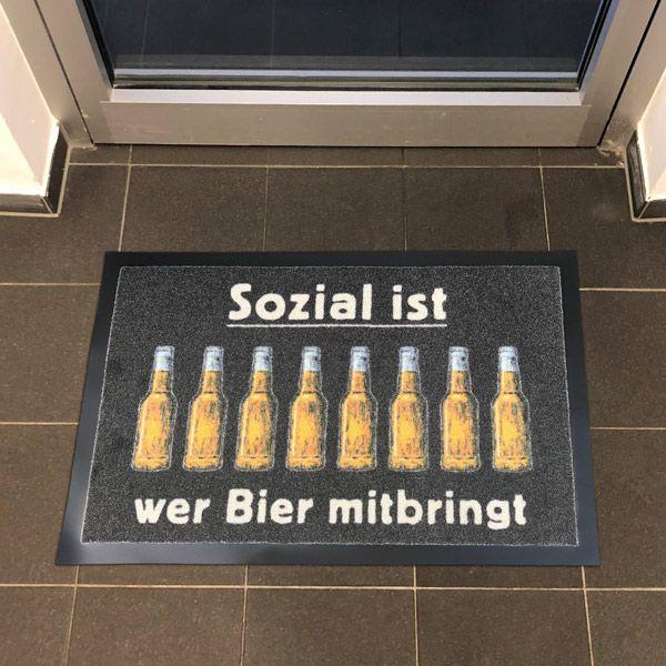 """Fußmatte """"Sozial"""""""