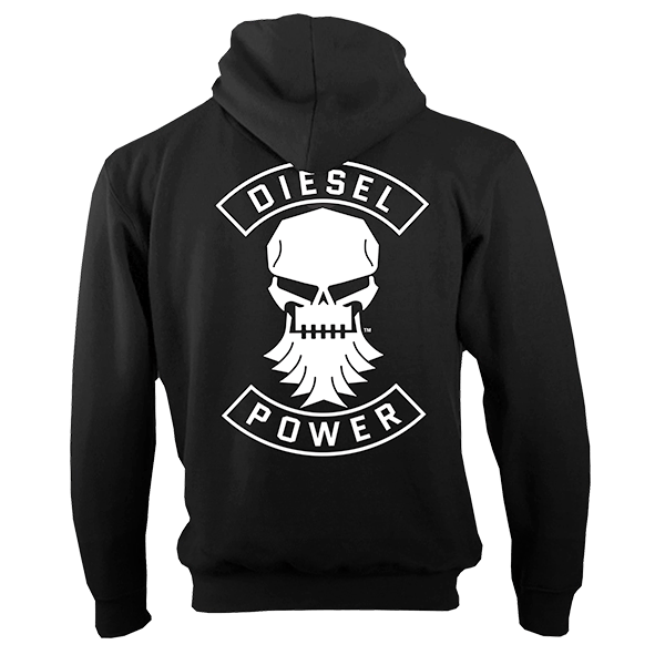 "Diesel Power Gear Reißverschluss-Hoody ""DP Skull"""