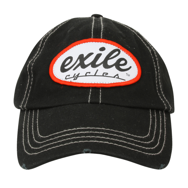 "Exile Cycles Baseball-Cap ""Oval Logo Washed"""