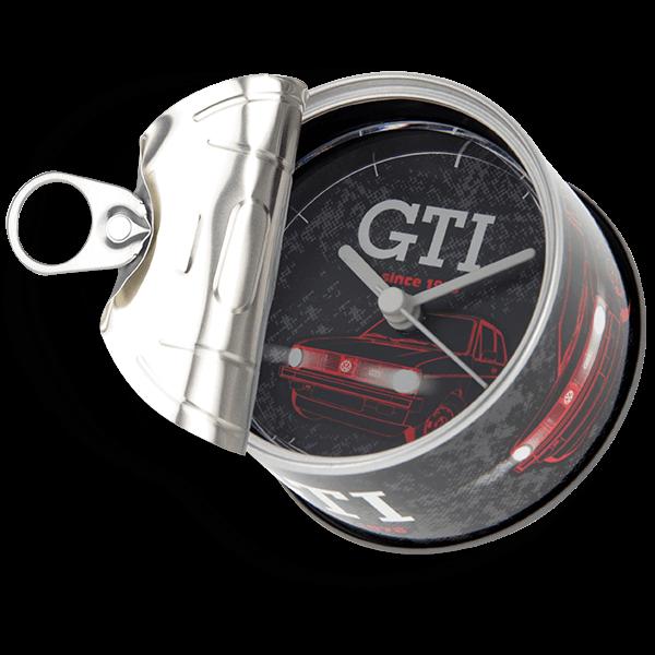 "Uhr in Konservendose ""VW Golf GTI"""
