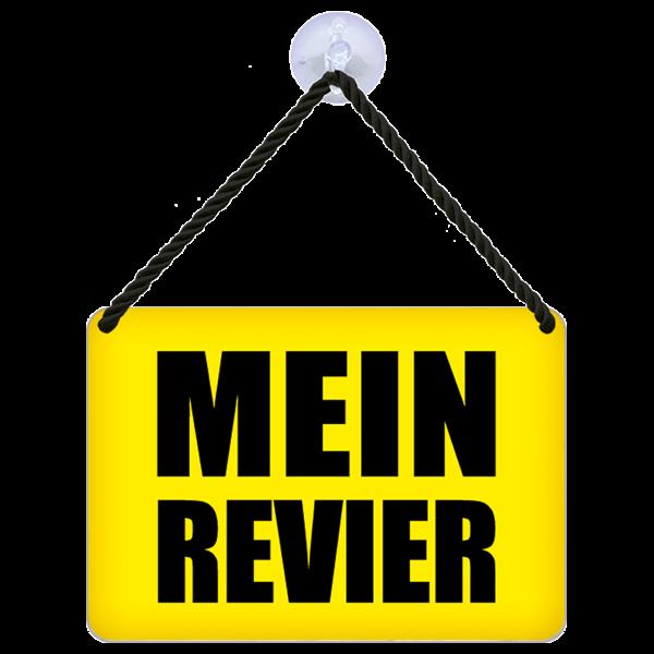 """Hängeschild """"Mein Revier"""""""