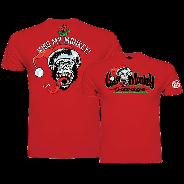 "Gas Monkey Garage X-Mas T-Shirt ""Kiss my Monkey"""