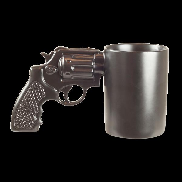 Tasse mit Revolvergriff