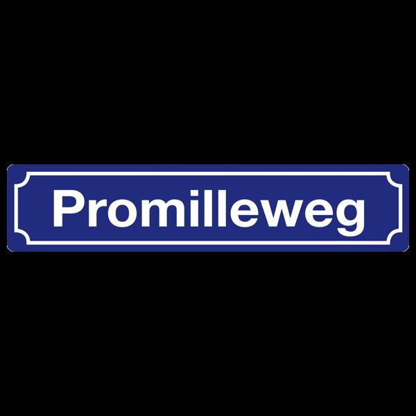 """Straßenschild """"Promilleweg"""""""