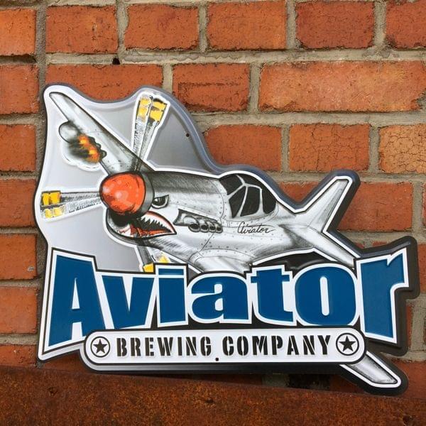 """Brauerei-Blechschild """"Aviator Brewing Company"""""""