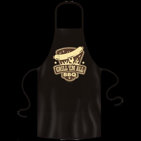 "Grill- und Kochschürze ""Grill 'em all"""