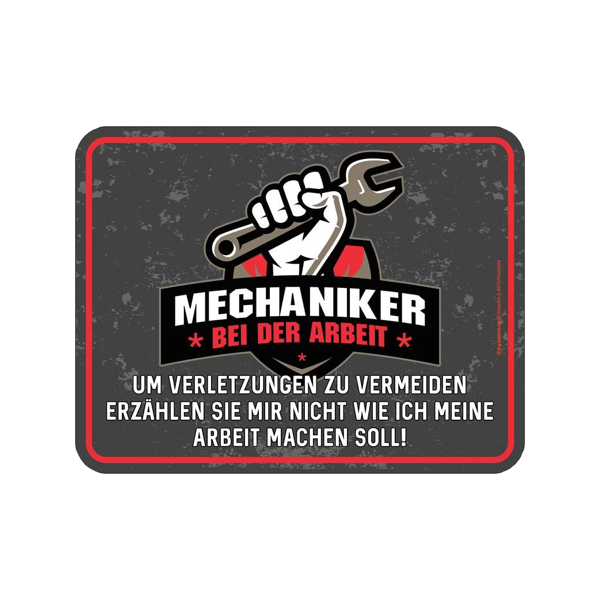 "Magnetschild ""Mechaniker"""