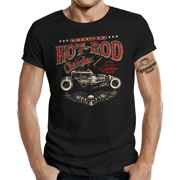 "T-Shirt ""American Hot Rod"" von Gasoline Bandit"