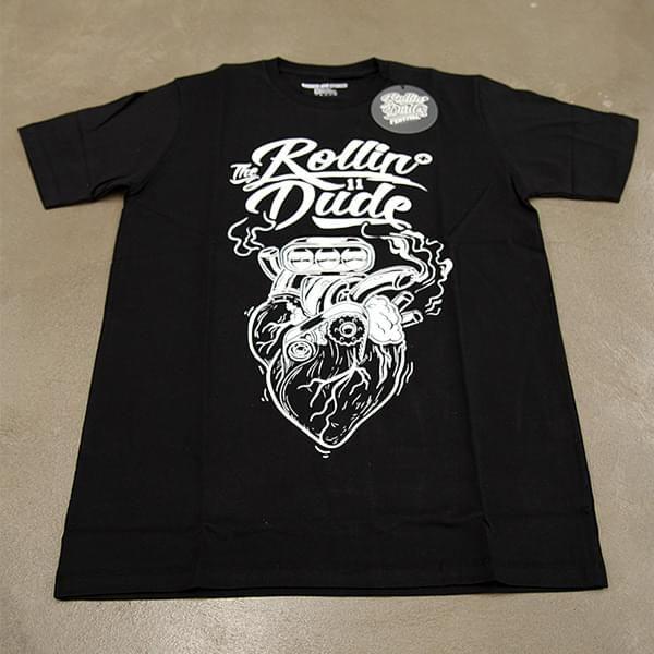 "T-Shirt ""The Rollin Dude"" & Aufkleber (Größe M)"