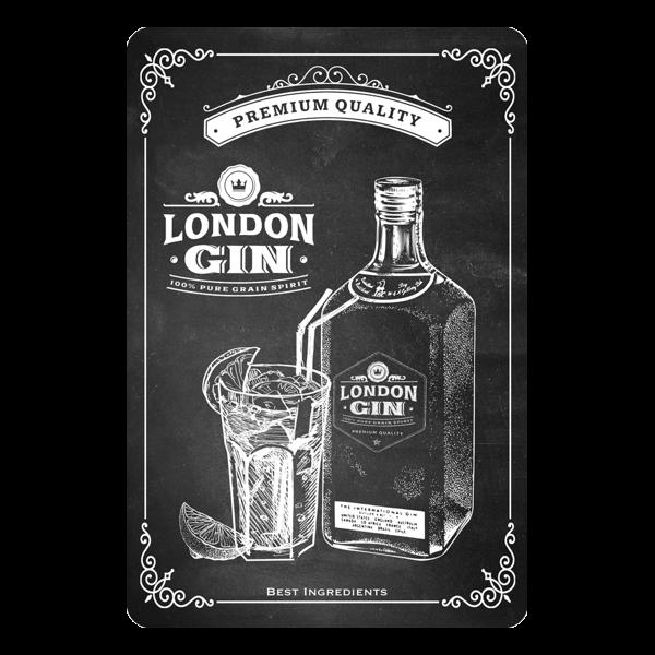 """Blechschild """"London Gin"""""""