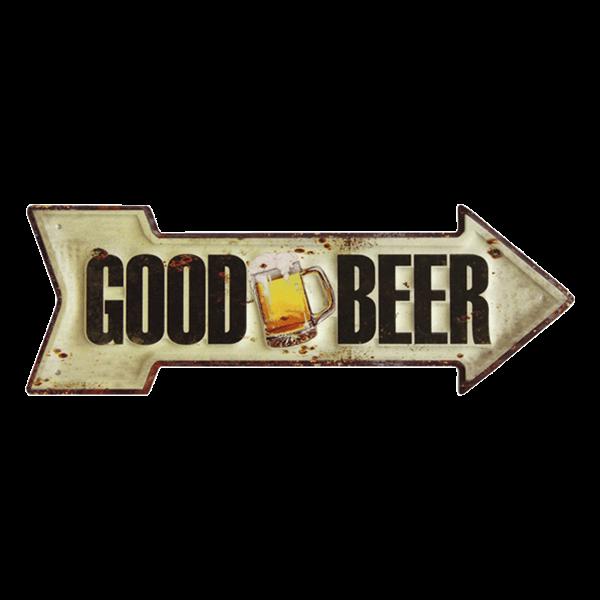 """Stahlschild """"Good Beer"""""""