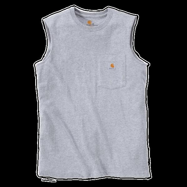 Ärmelloses T-Shirt mit Brusttasche von Carhartt