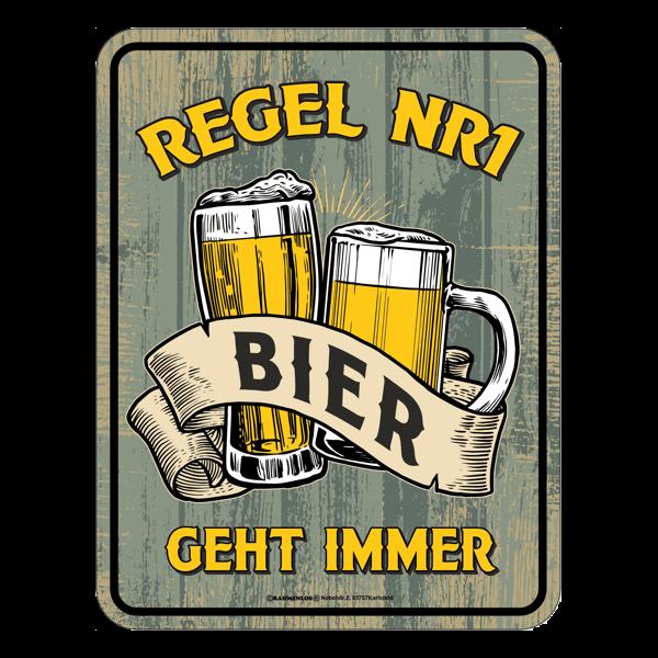 """Blechschild """"Bier geht immer"""""""