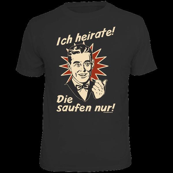 "T-Shirt ""Ich heirate"""