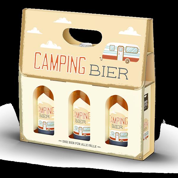 """Männerkoffer """"Camping Bier"""" (3 Bierflaschen im Tragerl)"""