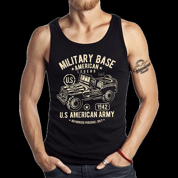 """Tank Top """"Military Jeep"""" von Gasoline Bandit"""