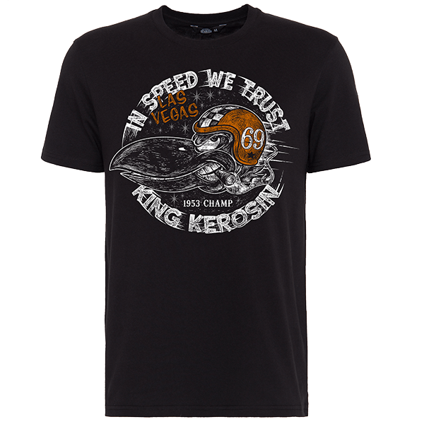 "King Kerosin T-Shirt ""In Speed We Trust"""