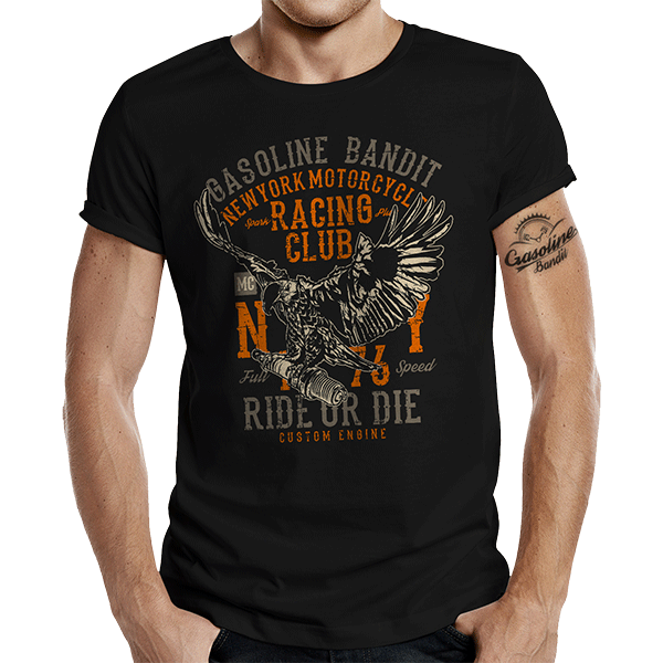 "T-Shirt ""NY Racing Club"" von Gasoline Bandit"