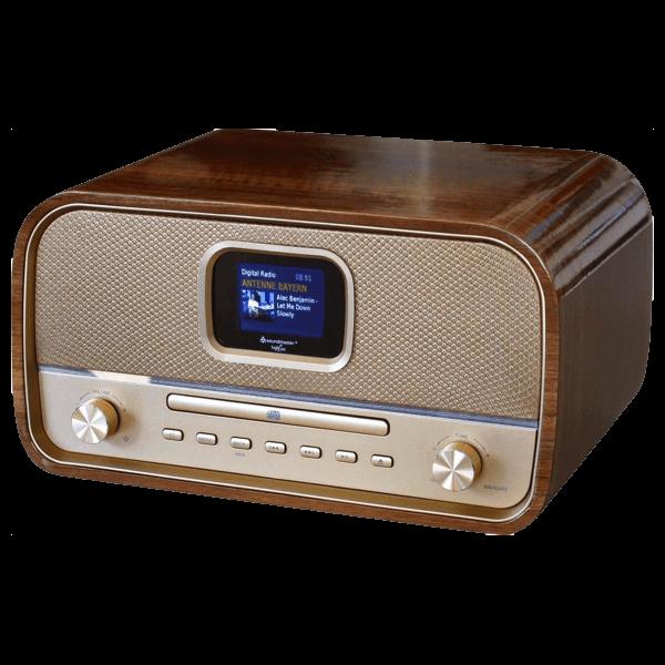 Retro Musikanlage mit DAB+/UKW, CD/MP3, USB und Bluetooth