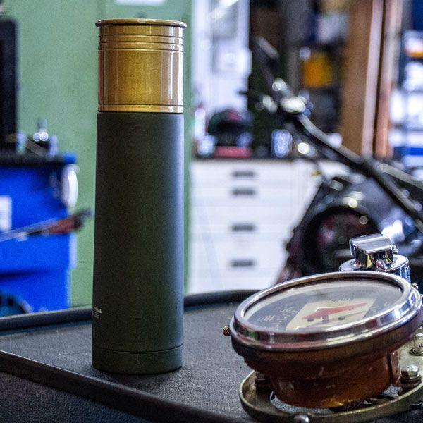 Vakuum-Isolierflasche in Schrotpatronenform