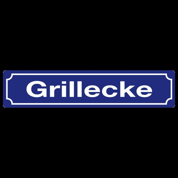 """Straßenschild """"Grillecke"""""""