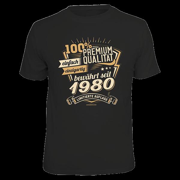 """T-Shirt """"Premium Qualität seit 1980"""""""