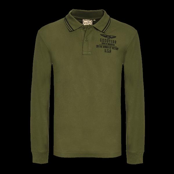 "Goodyear Langarm-Poloshirt ""Wings of Victory"""
