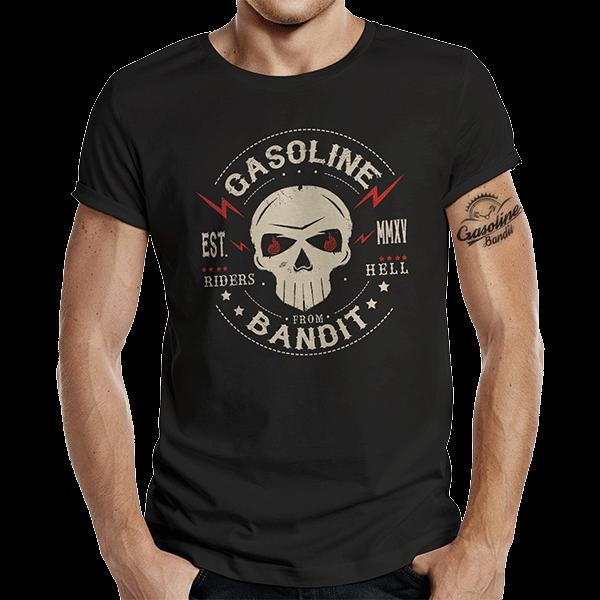 """T-Shirt """"Riders from Hell"""" von Gasoline Bandit"""