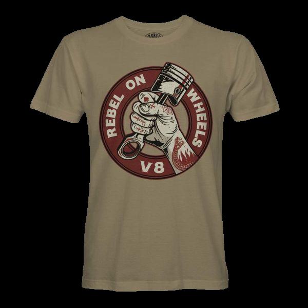 """T-Shirt """"Rebel on Wheels V8"""""""