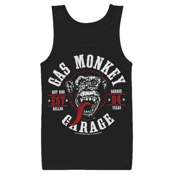 "Gas Monkey Garage Tank Top ""Round Seal"""