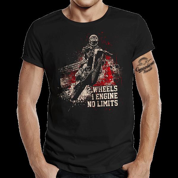"""T-Shirt """"No Limits"""" von Gasoline Bandit"""