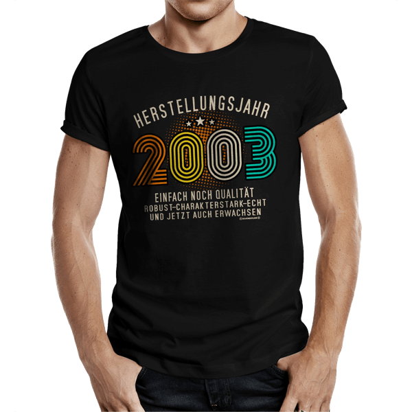 """T-Shirt """"Herstellungsjahr 2003"""""""