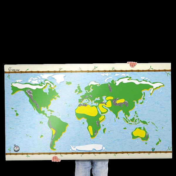 Weltkarte mit 150 Stickern für Kinder