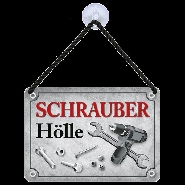 """Hängeschild """"Schrauber Hölle"""""""