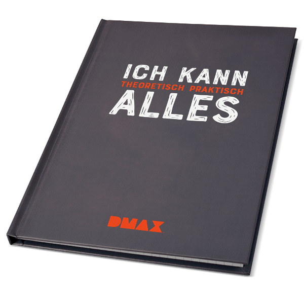"""DMAX Notizbuch """"Ich kann alles"""""""