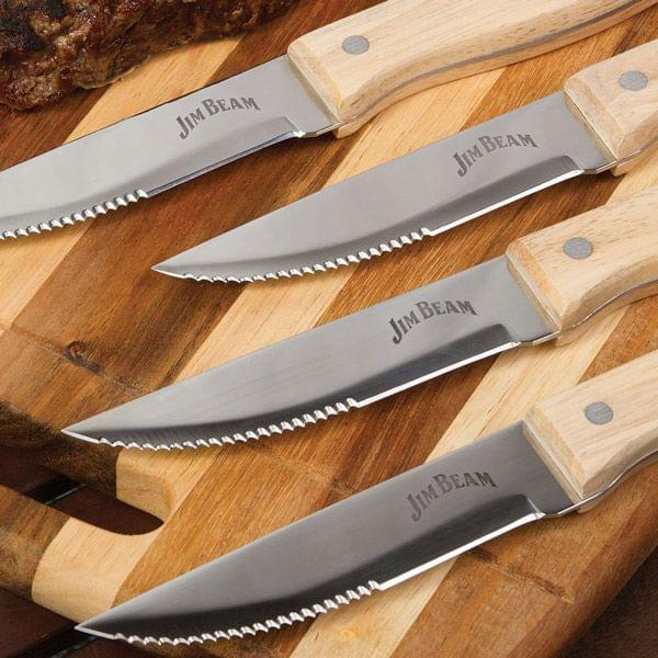 Jim Beam Steakmesser-Set 4-teilig