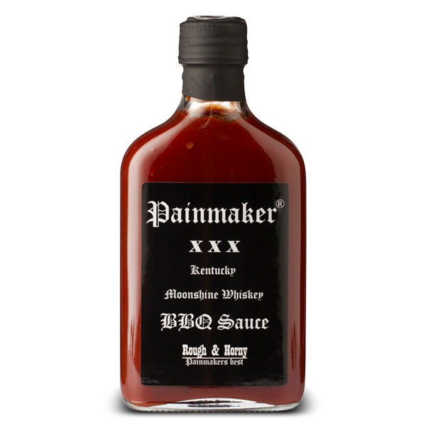 Scharfe BBQ Sauce mit Moonshine Whiskey