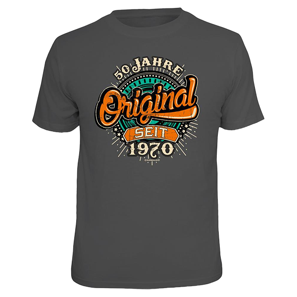 """T-Shirt """"Original seit 1970"""""""