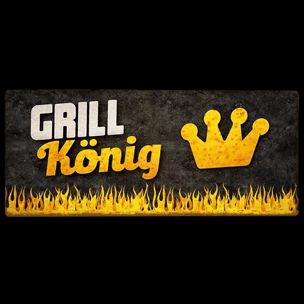"""Metallschild """"Grillkönig"""""""