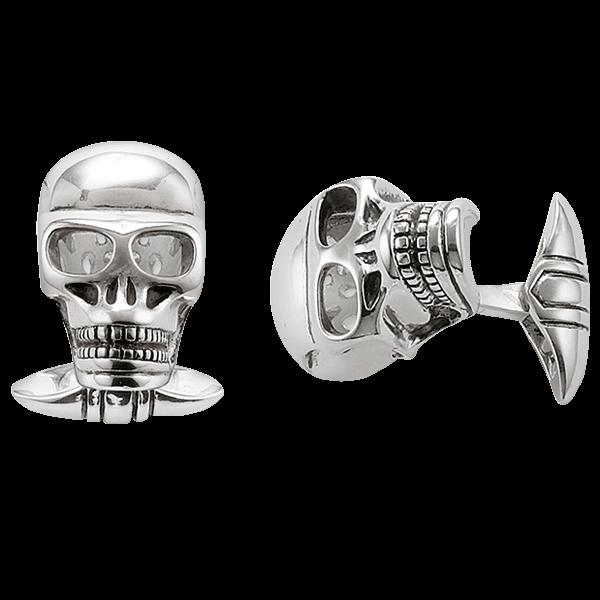 """Manschettenknöpfe """"Skull"""" aus 925er Sterlingsilber"""