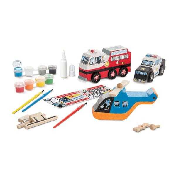 Rettungsfahrzeuge-Set zum Bemalen