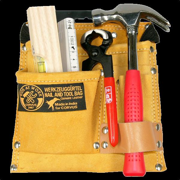 Bestückter Werkzeuggürtel für Kinder (6-teilig)