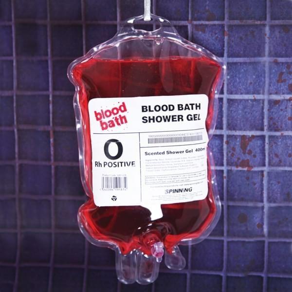 Duschgel in Bluttransfusionsbeutel