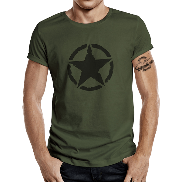 """T-Shirt """"Vintage Star"""" von Gasoline Bandit"""