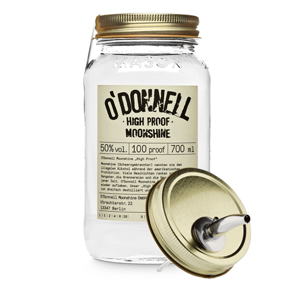 "O'Donnell Moonshine ""High Proof"" inkl. Ausgießer"