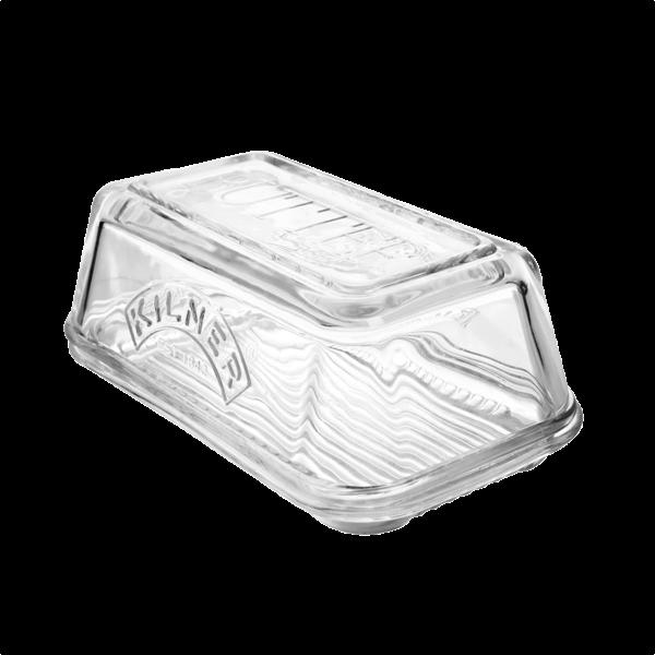 Butterdose aus Glas