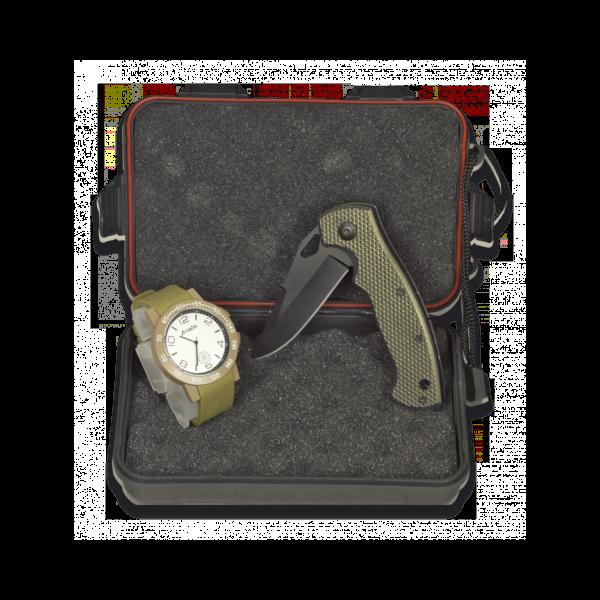 Taschenmesser mit Armbanduhr im Set