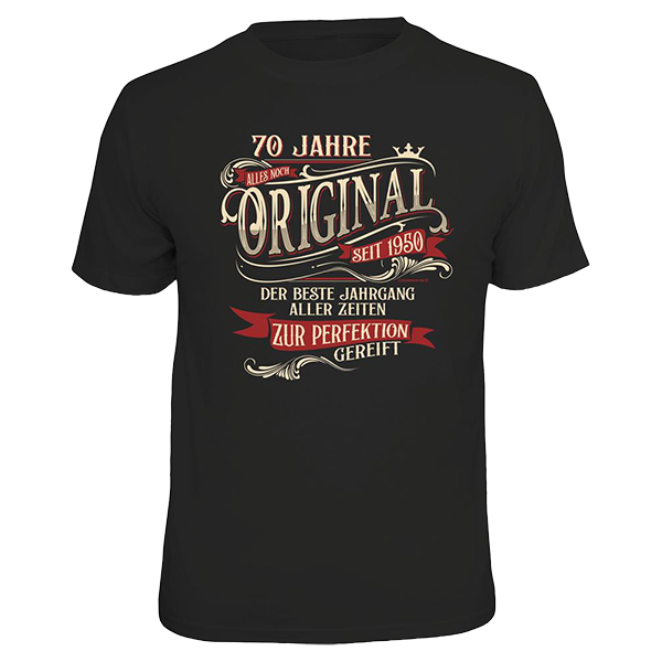 "T-Shirt ""Original seit 1950"""