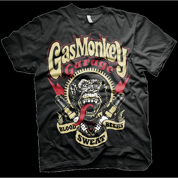 "Gas Monkey Garage T-Shirt ""Spark Plugs"""